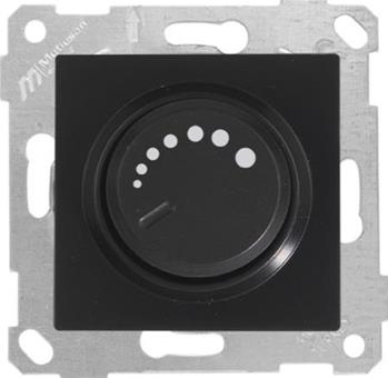Dimmer 1000W Schwarz (RITA Metall Optik)